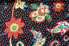 Colorful batik cloth fabric background royalty free stock photography