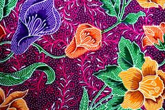 Colorful batik cloth fabric background royalty free stock image