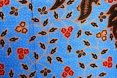 Colorful batik cloth fabric background Royalty Free Stock Image