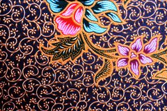 Colorful batik cloth fabric background Royalty Free Stock Photos
