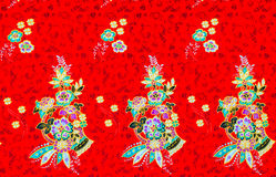 Colorful batik cloth fabric Stock Image