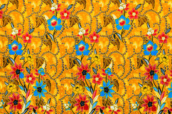 Colorful batik cloth fabric Royalty Free Stock Photo