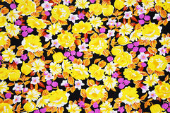 Colorful batik fabric texture with floral pattern Stock Image