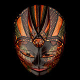 Colorful Batik mask on a black background Royalty Free Stock Photos