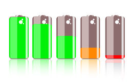 Colorful battery icon Royalty Free Stock Photography