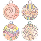 Colorful bauble collection Stock Images