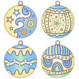 Colorful bauble collection Royalty Free Stock Image
