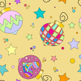 Colorful bauble and star texture Stock Images