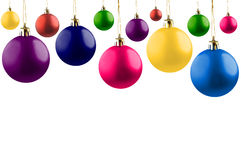 Colorful baubles. royalty free stock image