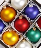 Colorful baubles Stock Image