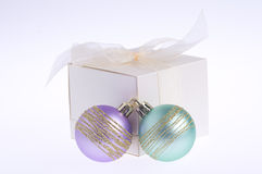 Colorful baubles Royalty Free Stock Photo