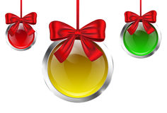 Colorful baubles Royalty Free Stock Images