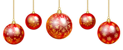 Colorful baubles Royalty Free Stock Photography