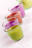 Colorful Bavareses Dessert Stock Image