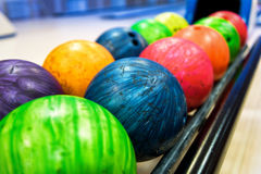 Colorful bowling balls Stock Photography