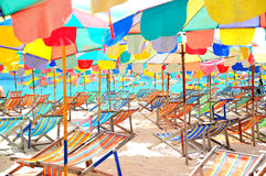 Colorful beach Stock Images