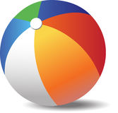 Colorful beach ball close-up Royalty Free Stock Images