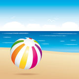 Colorful beach ball. Holiday illustration.. Royalty Free Stock Photos