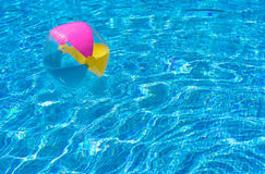 Pool Water With Beach Ball colorful beach ball swimming pool stock photos, images, & pictures