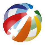 Colorful beach ball Stock Images