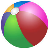 Colorful beach ball Royalty Free Stock Photo