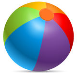 Colorful beach ball Stock Photography
