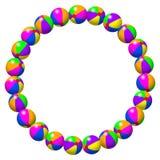 Colorful Beach Balls Circle Stock Image