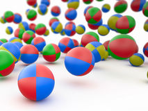 Colorful beach balls, 3D Stock Image