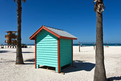 Free Colorful Beach Bath House Royalty Free Stock Photos - 74983558