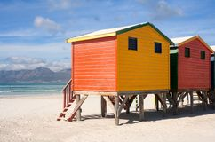 Colorful beach cabins Royalty Free Stock Photo