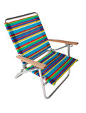 Colorful beach chair in white. Colorful beach chair isolated in white background Stock Image