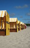 Colorful beach chairs. On the beach of Boltenhagen/Baltic Sea Stock Photos