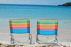 Free Colorful Beach Chairs Royalty Free Stock Photography - 17622727