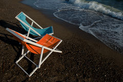 Colorful beach chairs Royalty Free Stock Photo