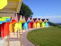 Colorful beach chalets Royalty Free Stock Photography