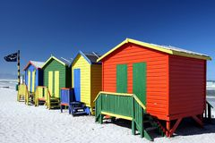 Colorful Beach Change Rooms Royalty Free Stock Photo