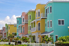 Colorful Beach Condominiums royalty free stock image