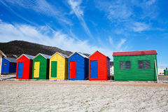 Colorful beach cottages Royalty Free Stock Images
