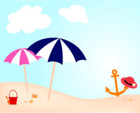 Colorful beach Stock Image