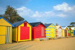 Free Colorful Beach House At Brighton Beach, Melbourne Royalty Free Stock Photography - 93738237