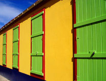 Colorful beach house Royalty Free Stock Photos