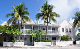 Colorful Beach Houses. A row of colorful beach houses in Key West, Florida royalty free stock photography