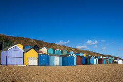 Colorful beach houses Stock Images