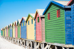 Colorful beach houses at Cape Town Royalty Free Stock Photo