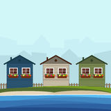 Colorful Beach Houses. Real Estate Concept Stock Image