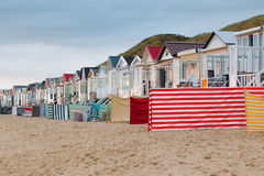 Colorful beach houses Stock Image