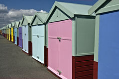 Colorful Beach Huts Stock Images