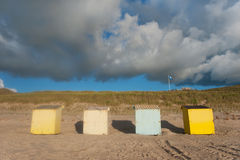 Colorful beach huts Stock Photography