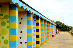 Colorful Beach Huts. Royalty Free Stock Image