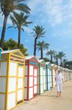 Colorful beach huts Royalty Free Stock Image